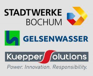 Logos Stadtwerke Bochum, Gelsenwasser, Kueppers Solutions