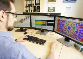 Strömungssimulation der Mischeinheit an Monitoren